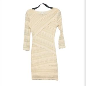 M.S.S.P | Max Studio Ivory Tiered Lace Tight Dress